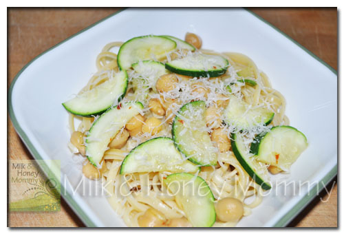 linguine w/zucchini and chickpeas