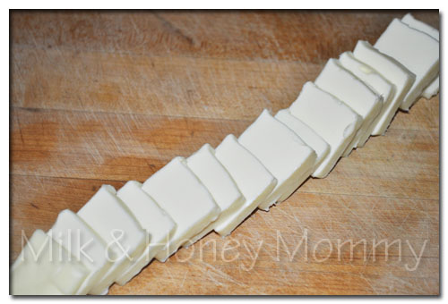 stacked butter for buttermilk biscuits