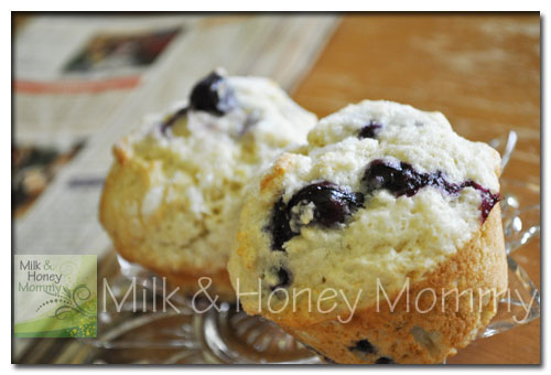 delicious homemae blueberry muffins