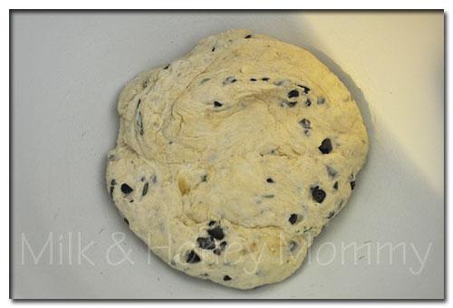 fresh focaccia bread dough