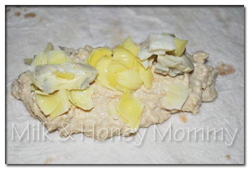 artichokes for hummus wrap