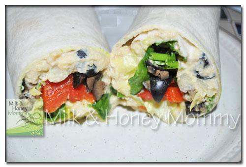 delicious and nutritious artichoke hummus wraps